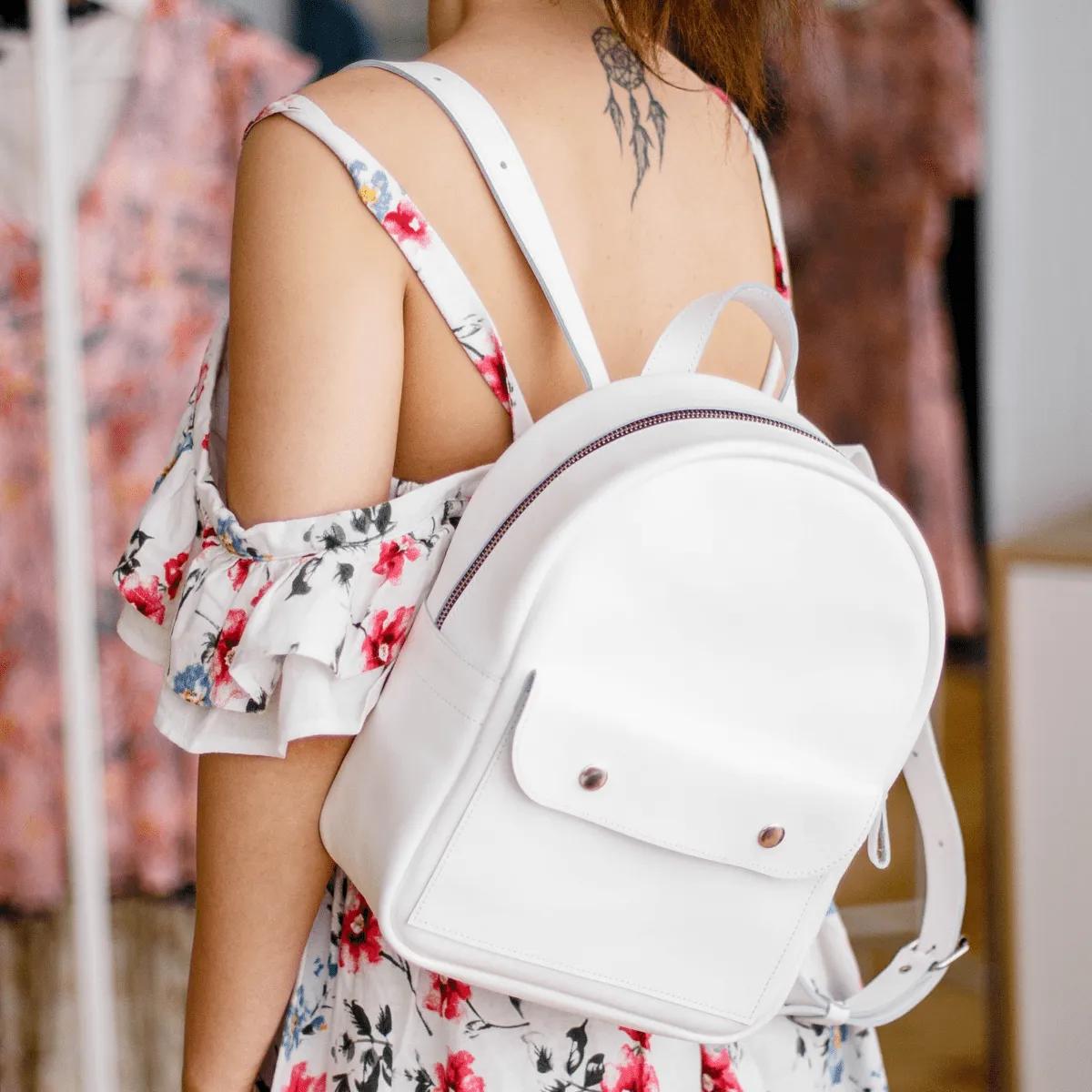 Mini Backpack White