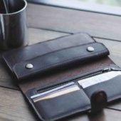 Long Leather Wallet