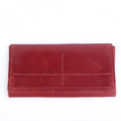 Wallet in Red Leather