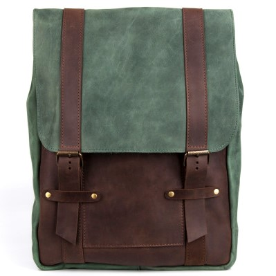 Two-Colored Brown and Cognac Backpack