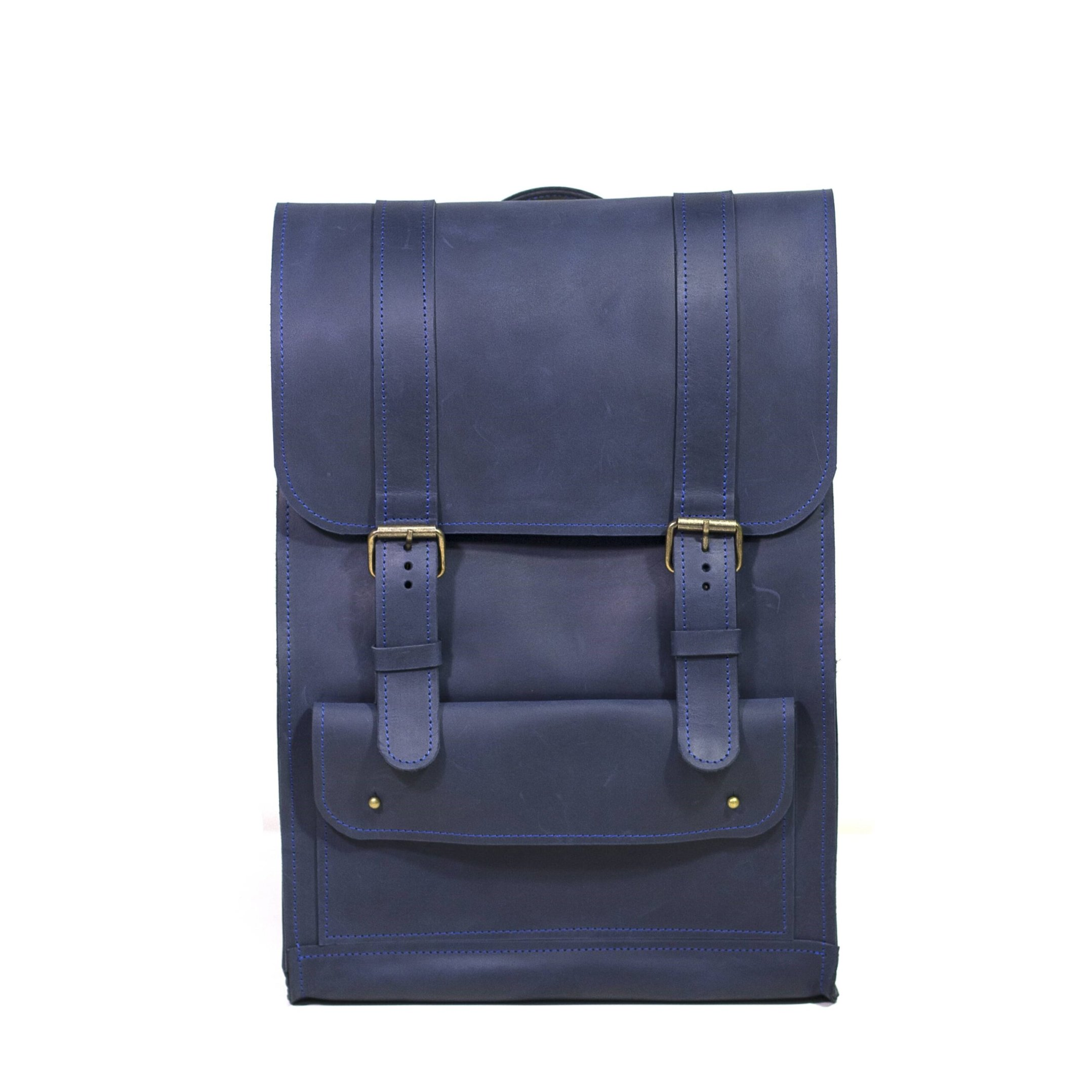 Blue Backpack with Strap Closures