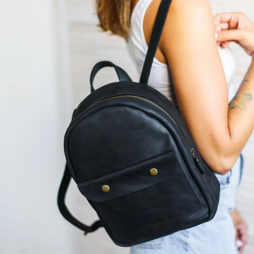 Stylish Black Backpack