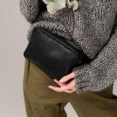 Black Handmade Hip Bag