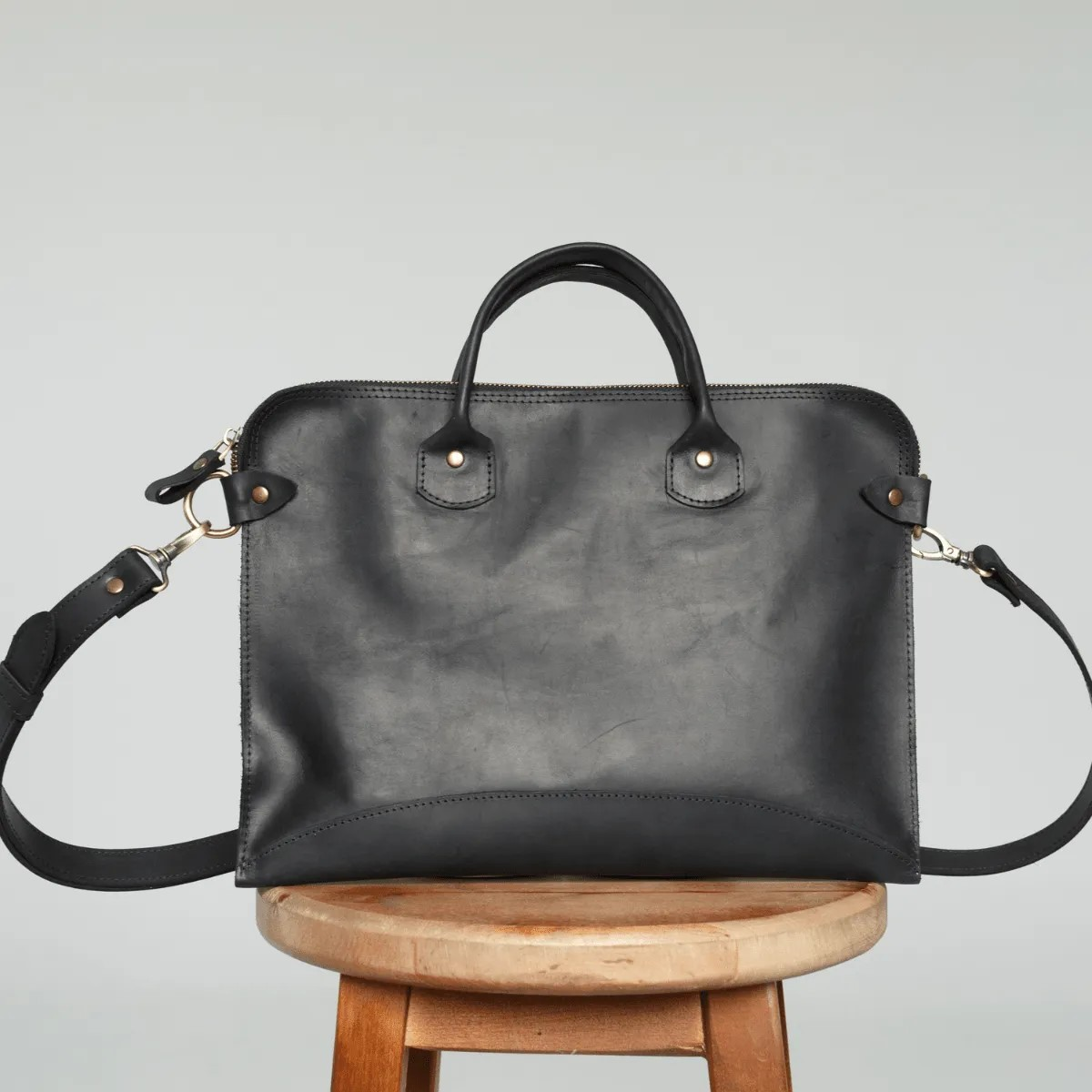 Black Leather MacBook Bag