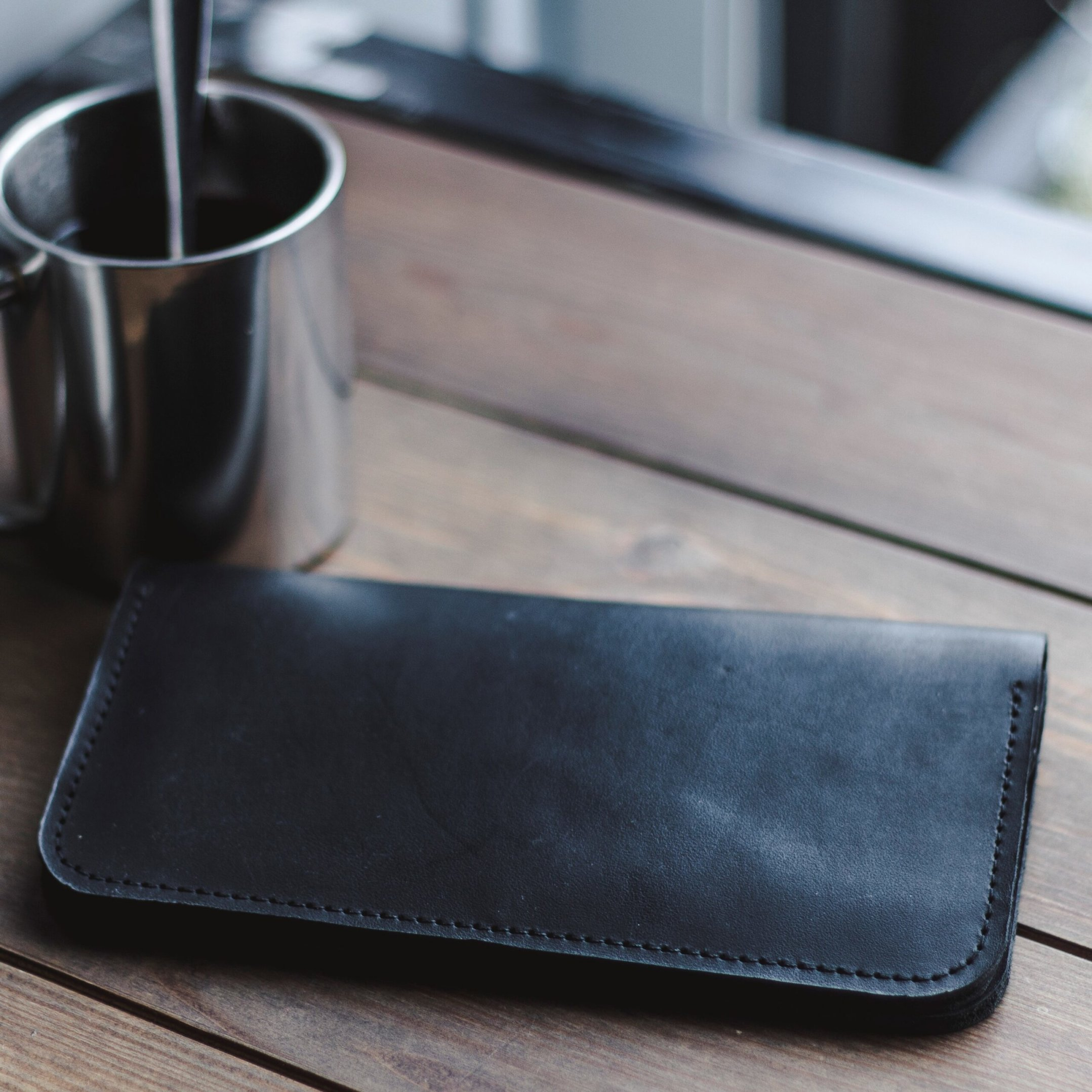 Long Bifold Leather Wallet