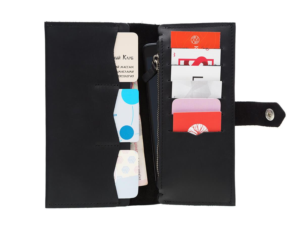 Glossy Black Bifold Wallet