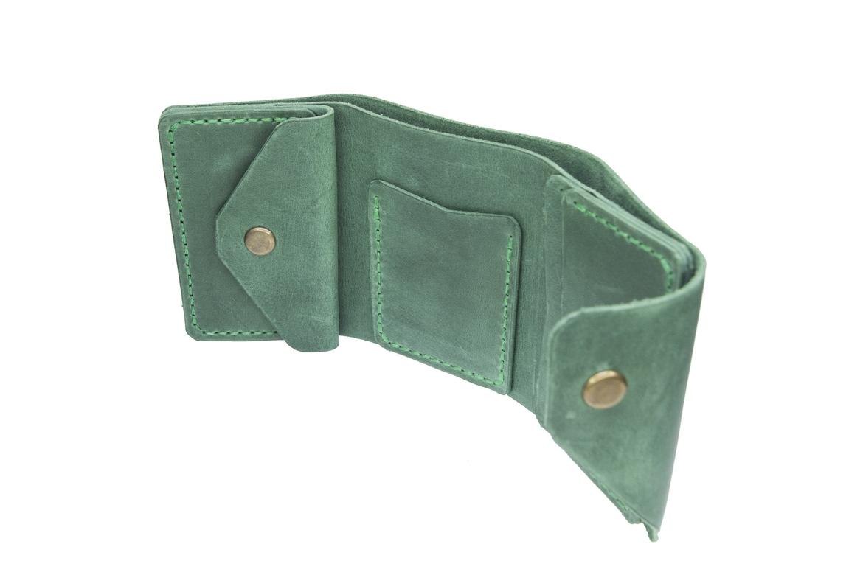 Green Triple Mini Wallet