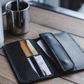 Men's Long Bifold Leather Wallet