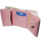 Glossy Pink Triple Wallet