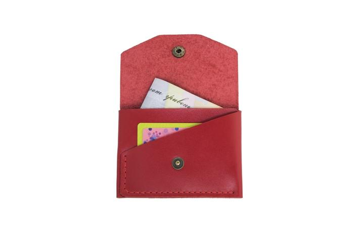 Glossy Red Card Holder