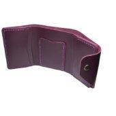 Marsala Triple Leather Mini Wallet