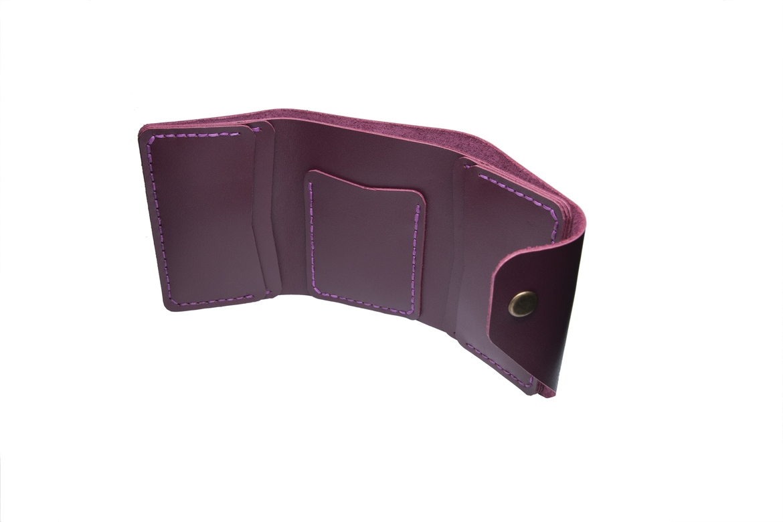 Glossy Marsala Triple Wallet