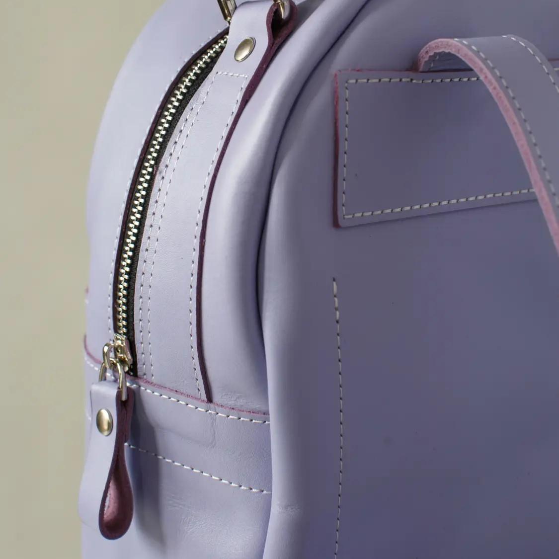 Women's Purple Leather Backpack