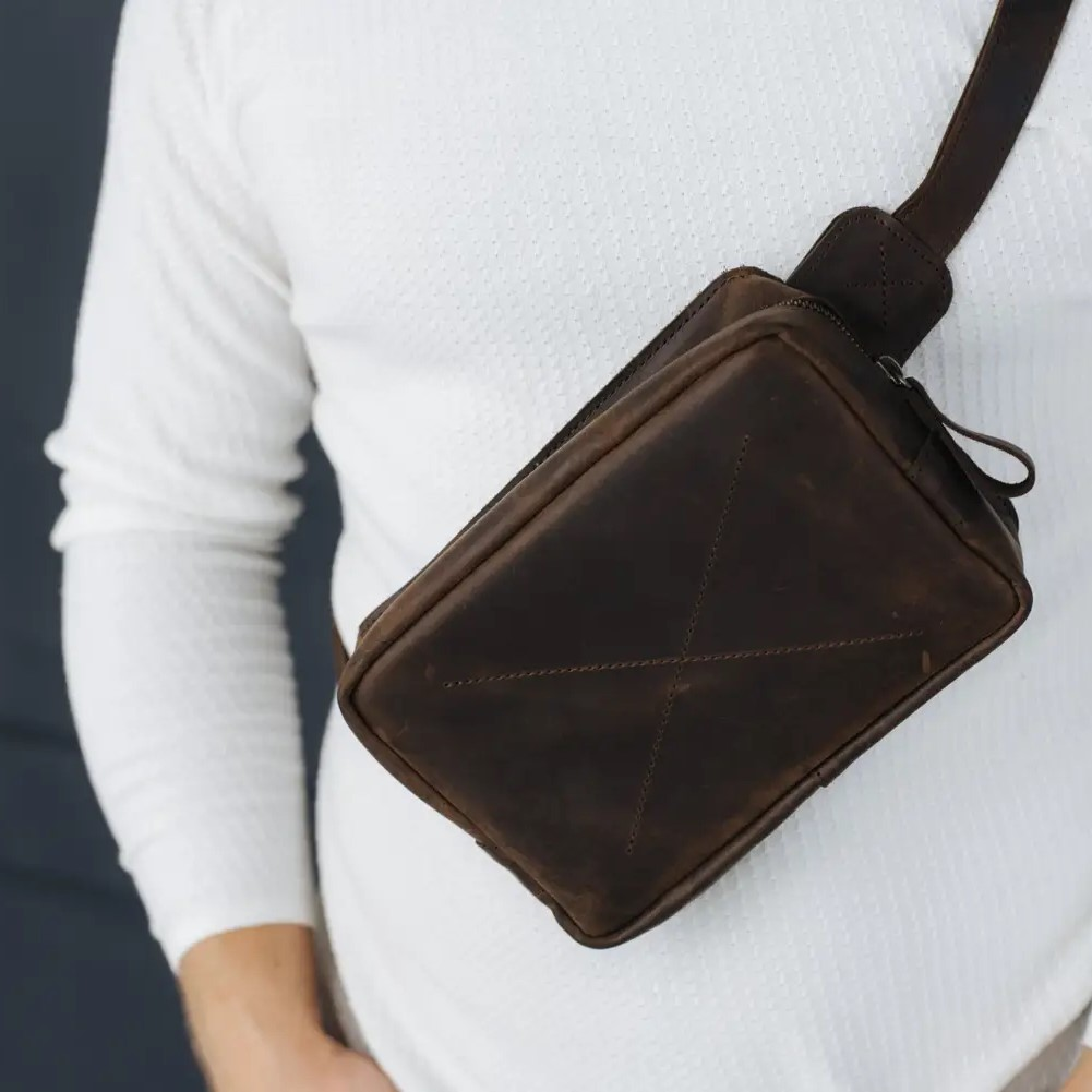 Cognac Handmade Hip Bag
