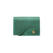 Green Triple Leather Mini Wallet