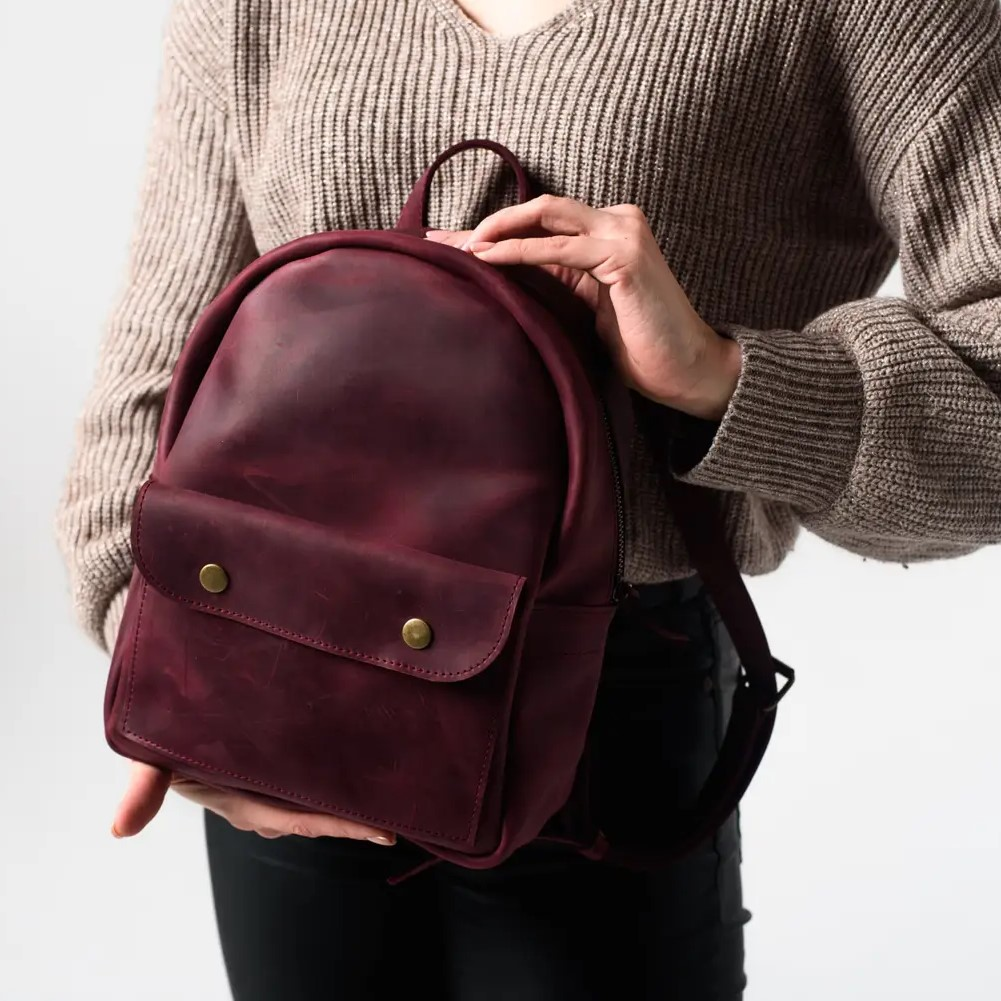 Stylish Mini Marsala Backpack