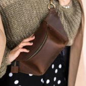 Brown Leather Fanny Pack
