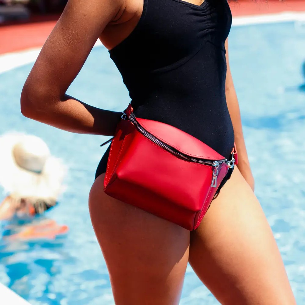 Glossy Red Fanny Pack