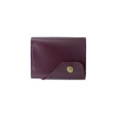 Glossy Marsala Triple Leather Wallet