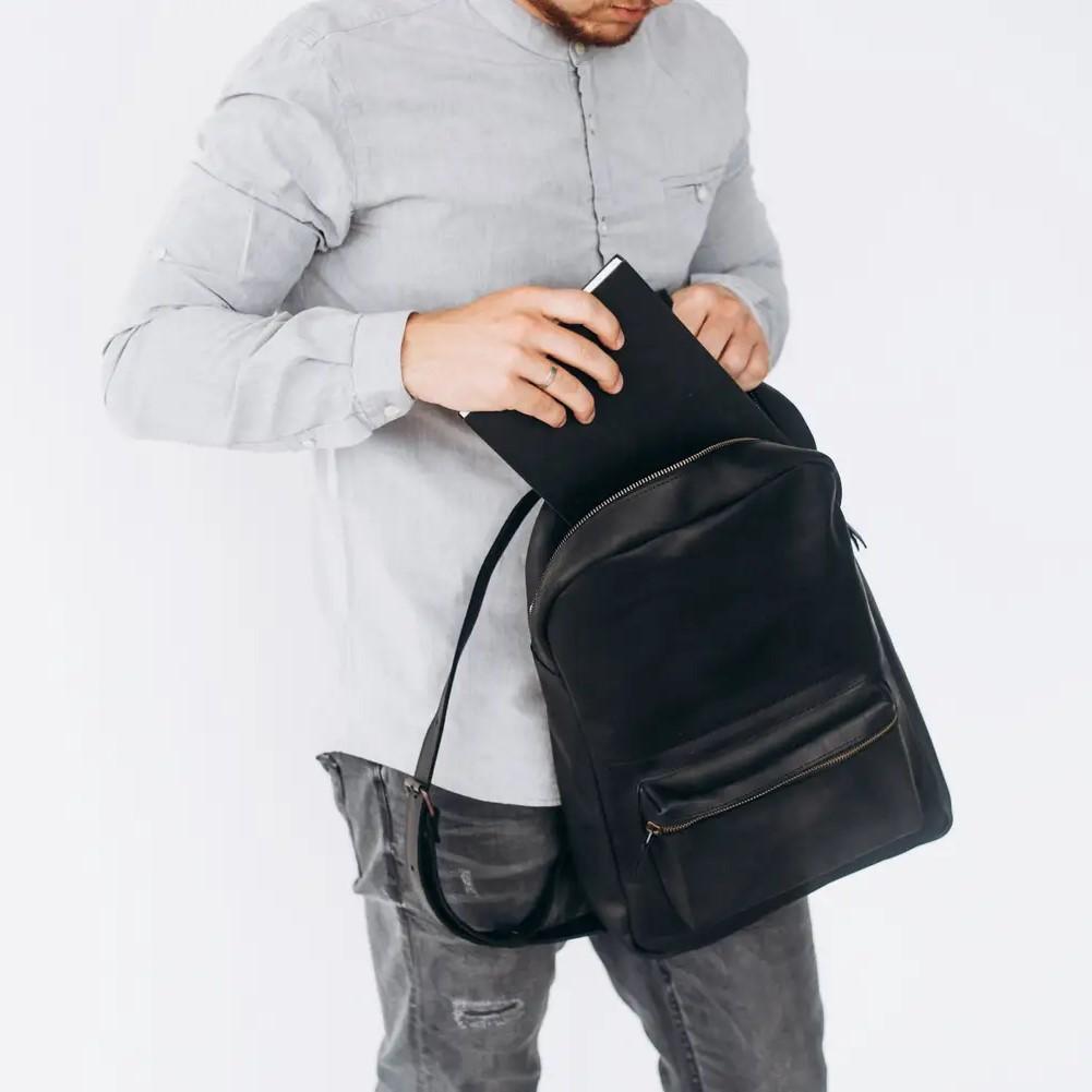 Handmade Black Backpack