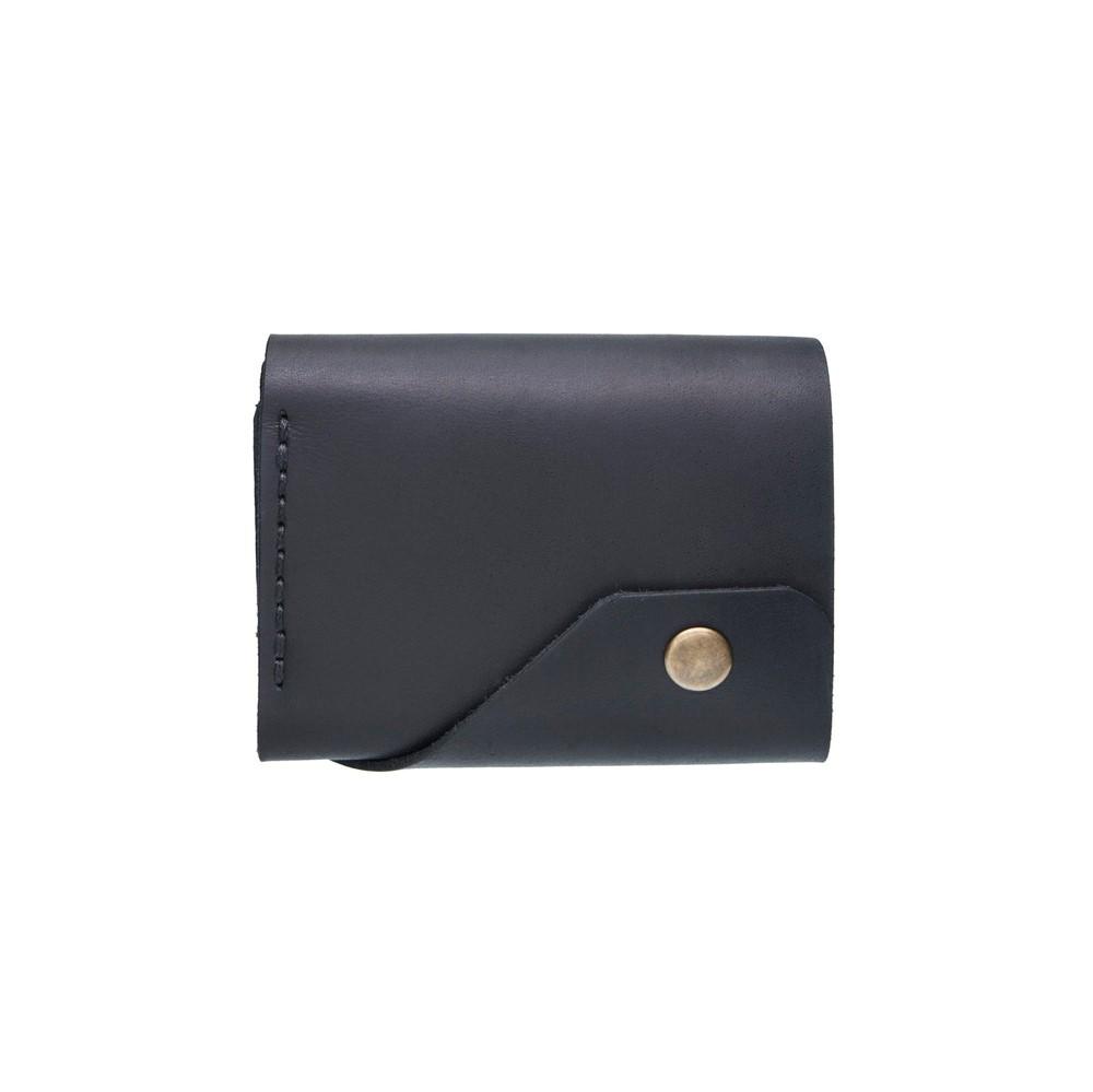 Black Triple Leather Mini Wallet