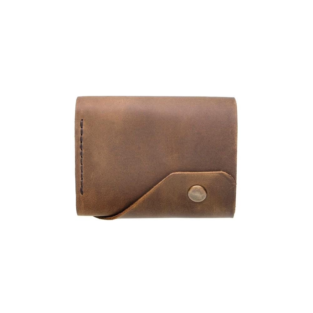 Brown Triple Leather Mini Wallet
