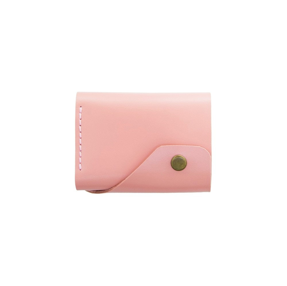 Glossy Pink Triple Leather Wallet