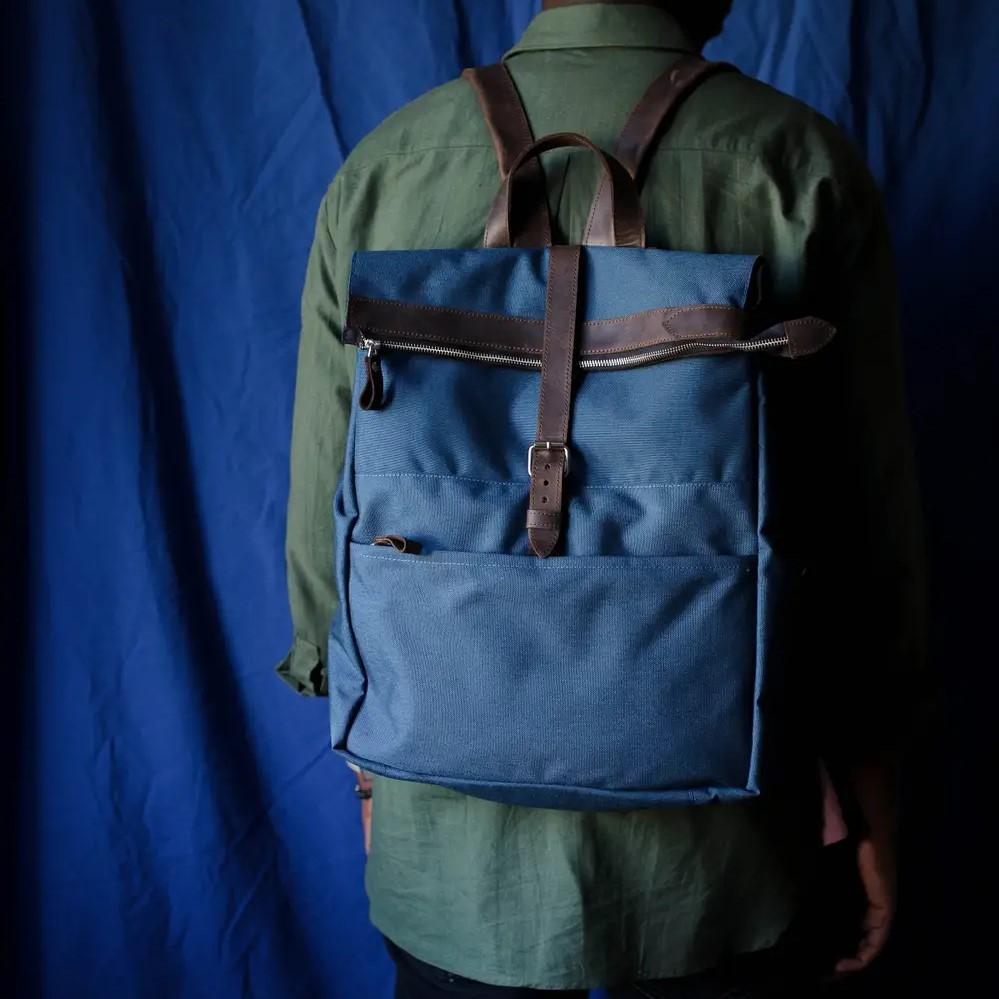 Handmade Backpack in Brown