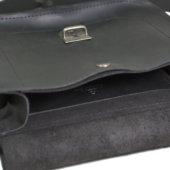Black Cross Body Bag with Buckle