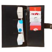 Brown Bifold Wallet - 12 compartments