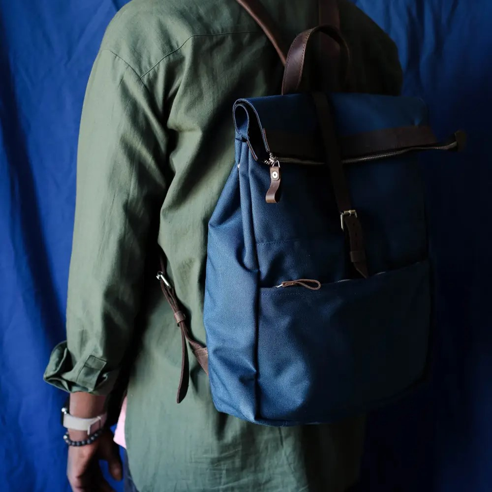 Backpack in Brown Leather