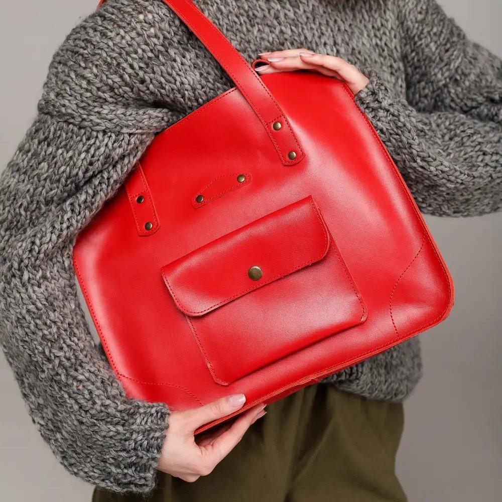 Red Tote Handbag