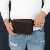 Cognac Handmade Leather Hip Bag