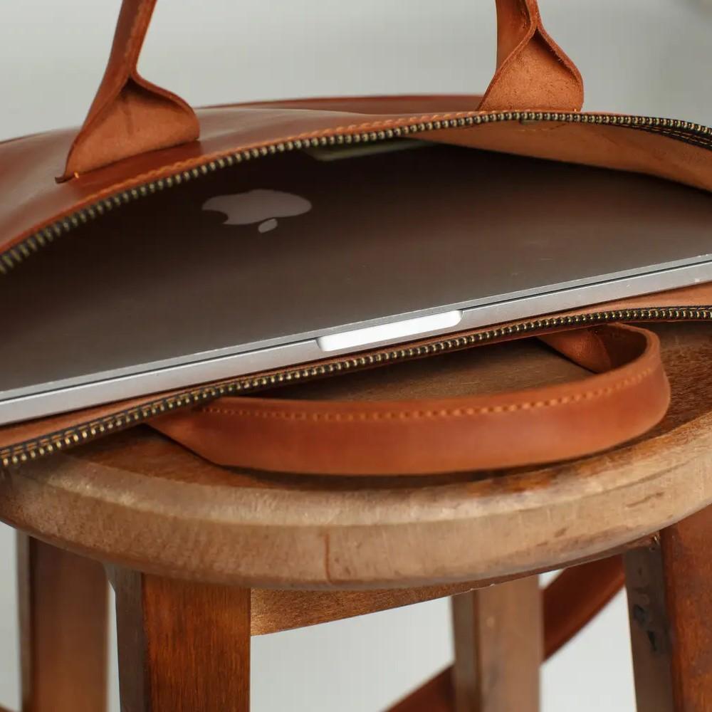 Cognac MacBook Bag