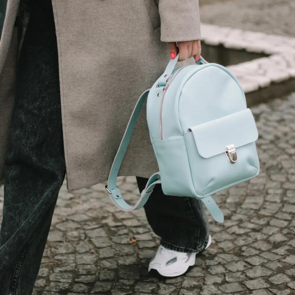 Light Blue Mini Backpack