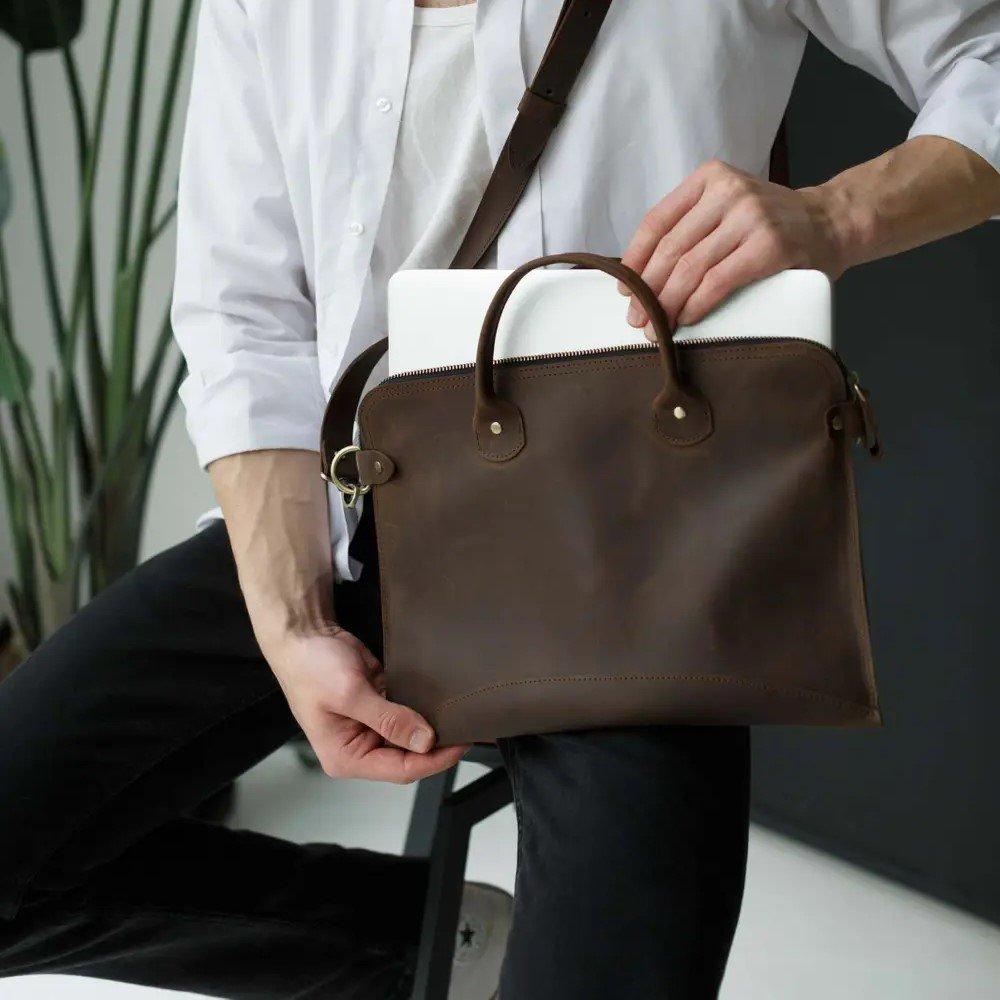 Brown MacBook Bag