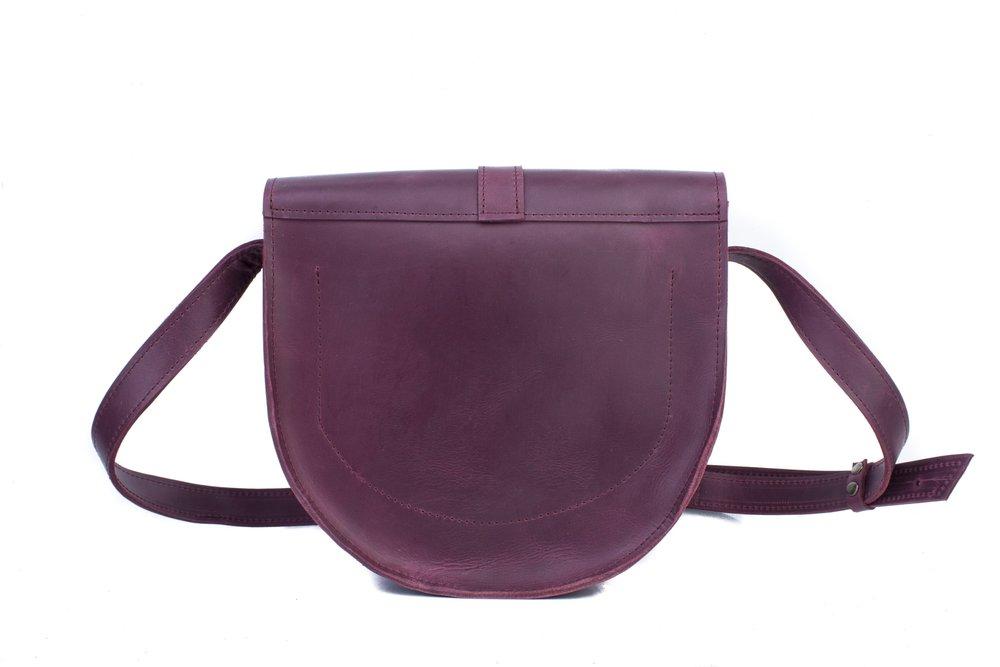 Marsala Cross Body Bag with Buckle