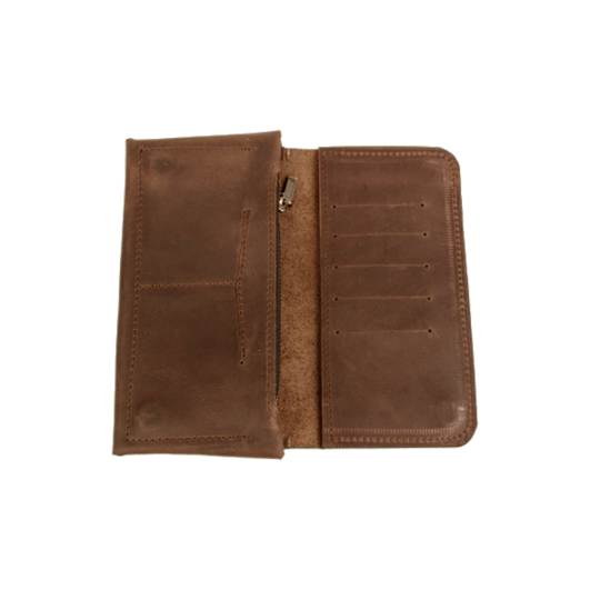 Long Wallet in Light Brown Leather