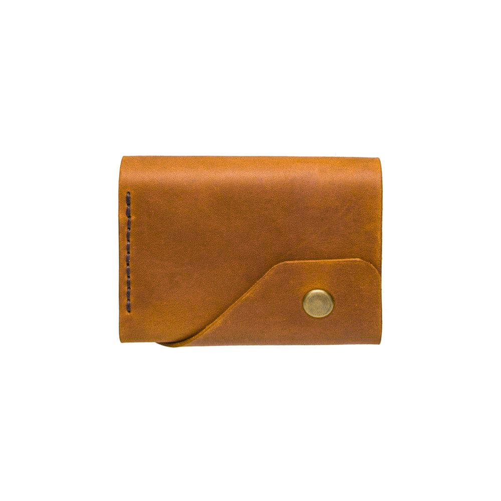 Ginger Triple Leather Mini Wallet