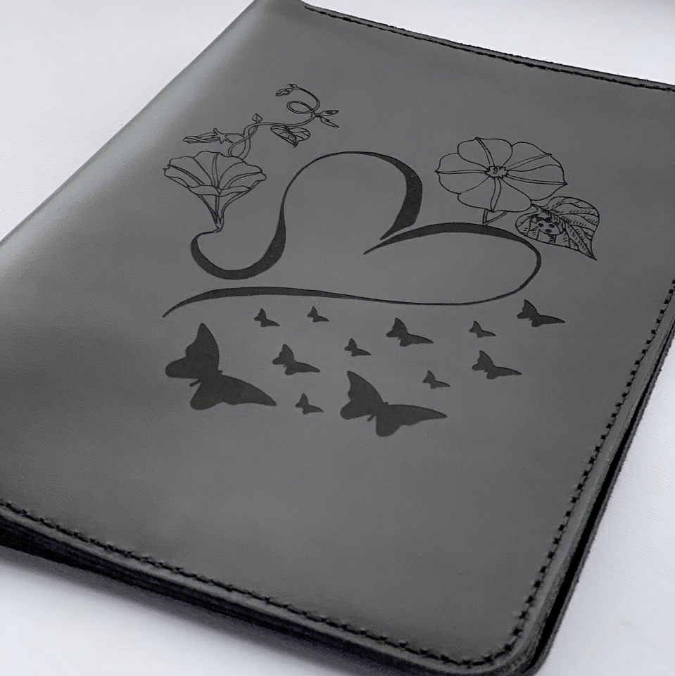 Leather Glossy Black Ipad Case