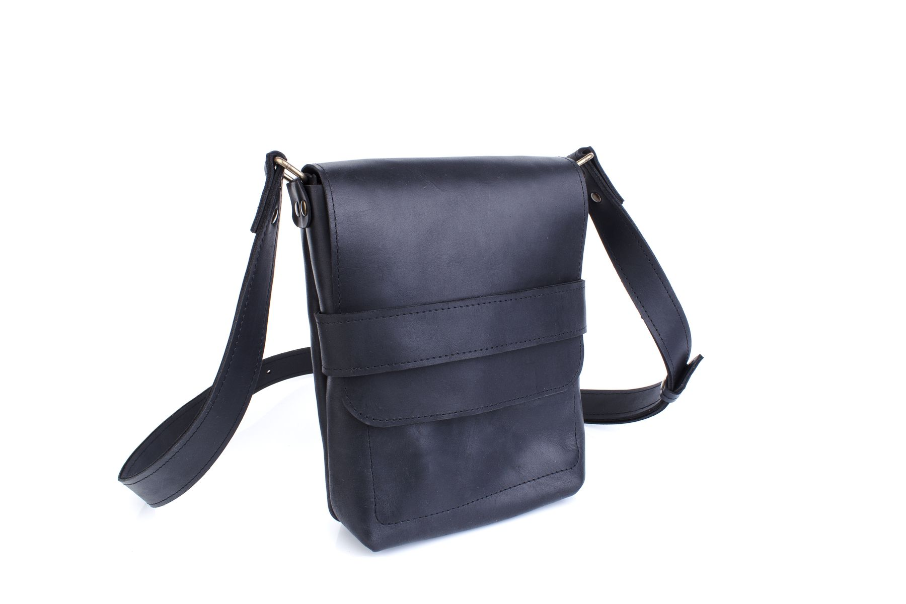 Black Leather Satchel