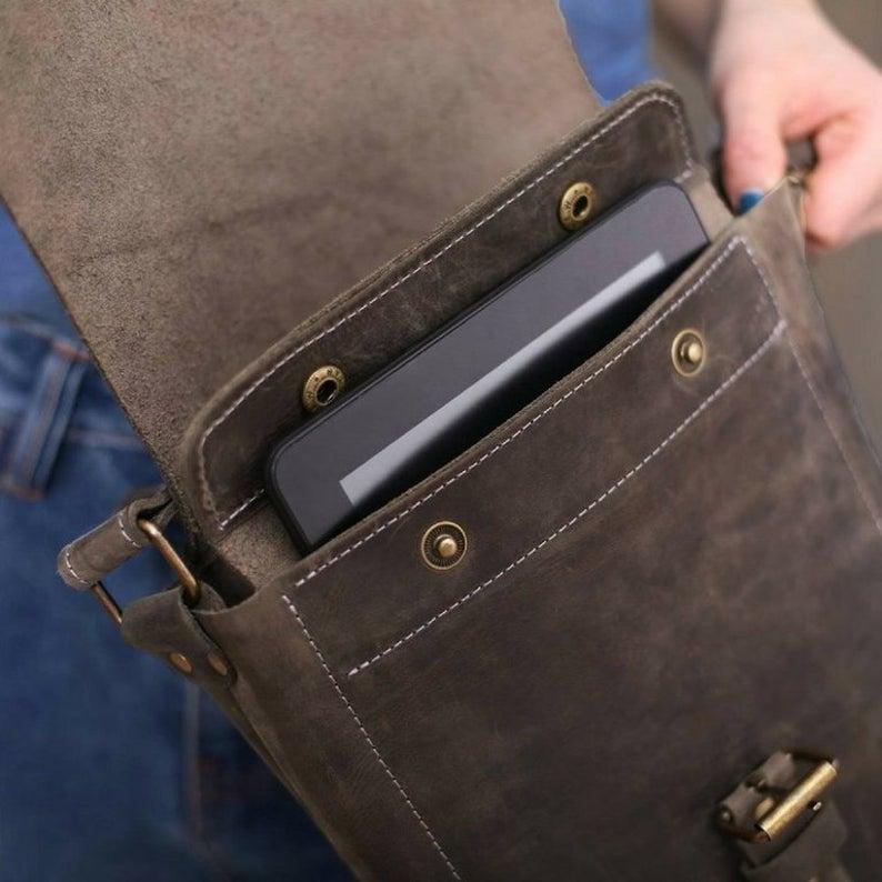 Men's Brown Flexi Slim Bag