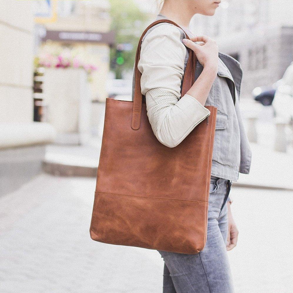 Cognac Shopping Bag