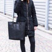 Black Full Grain Tote Bag