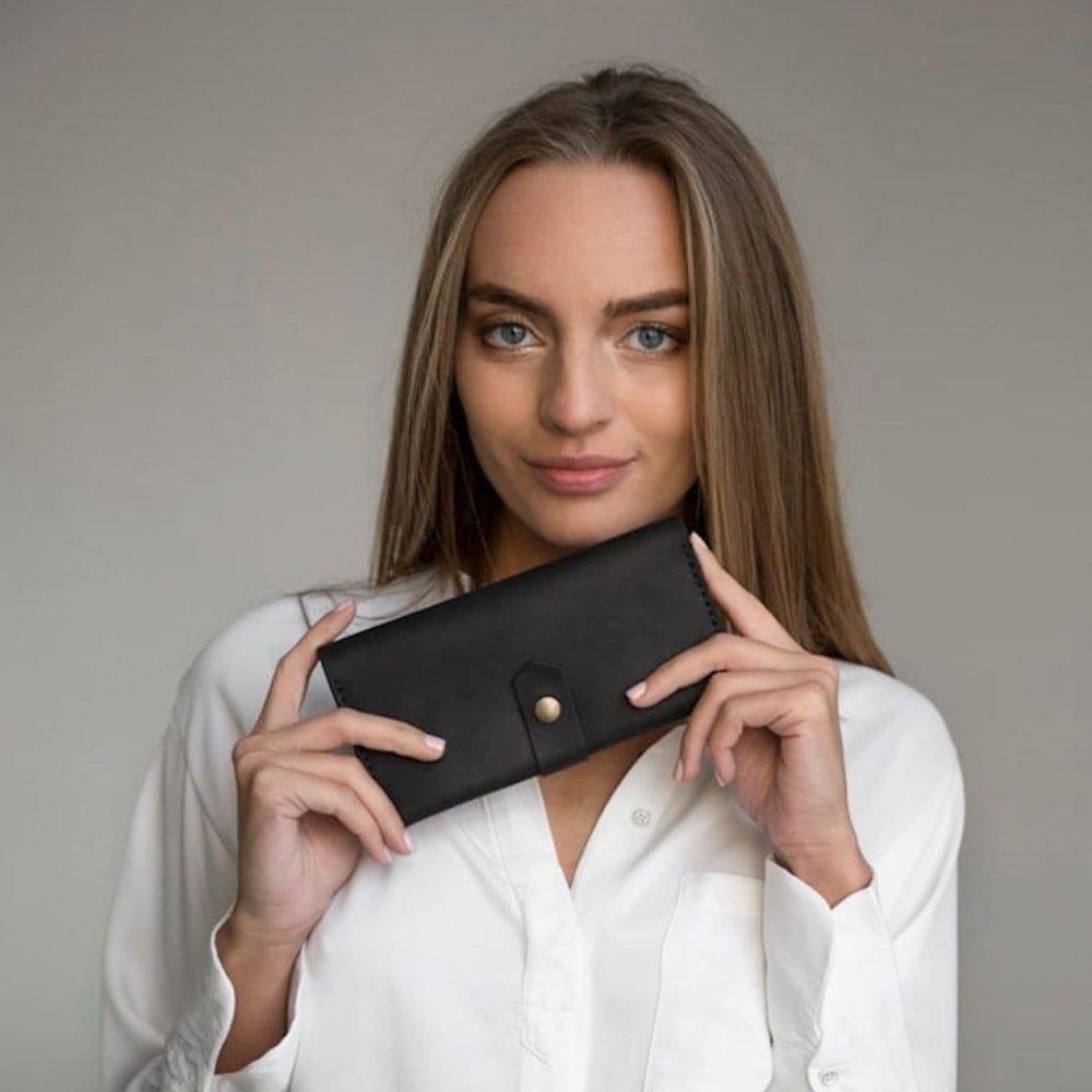 Black Bifold Leather Wallet