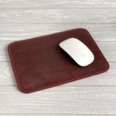 Marsala Leather Mouse Pad