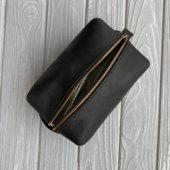 Black Leather Dopp Kit