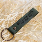 Green Leather Keychain