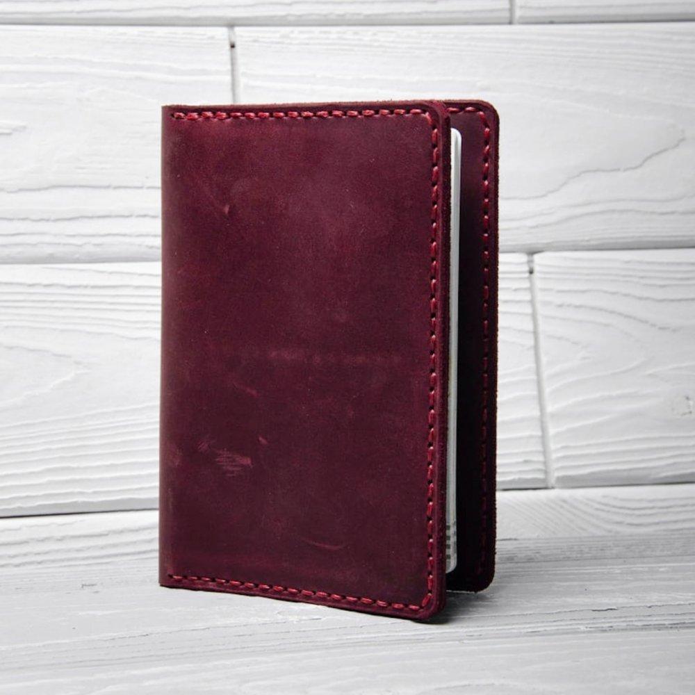 Марсала Leather Passport Holder