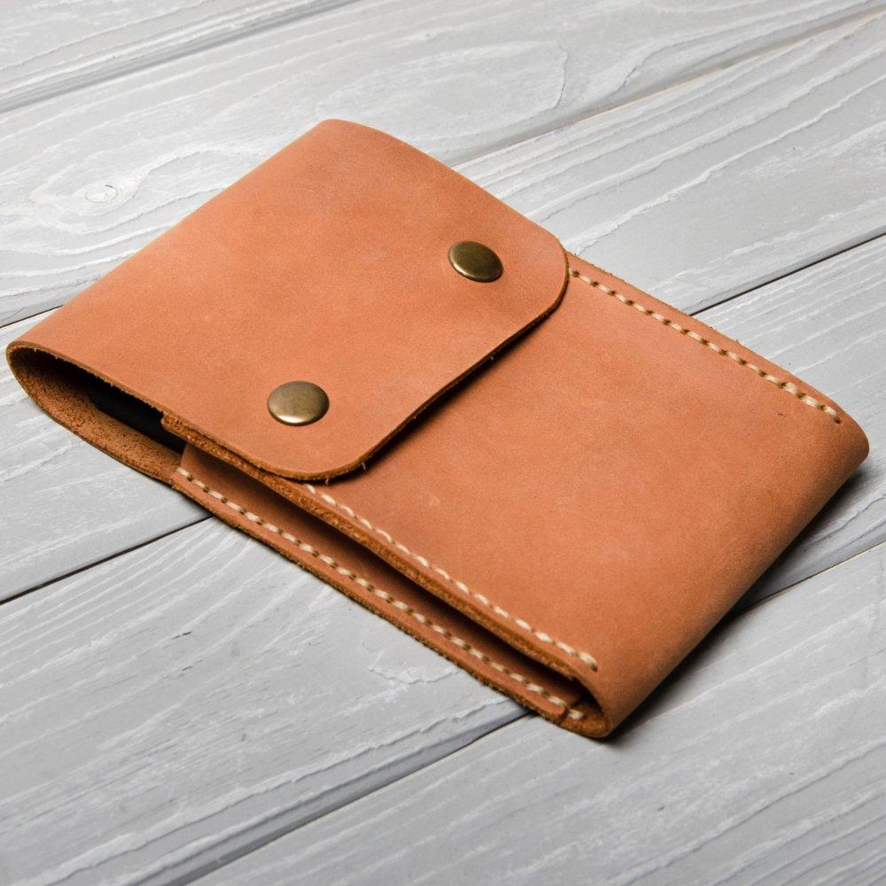 Cognac Leather Pencil Case